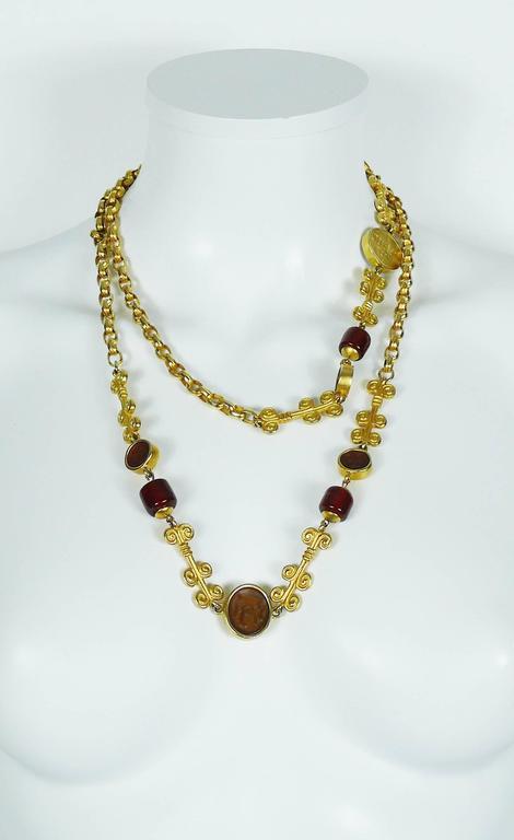 Karl Lagerfeld Vintage Gripoix Sautoir Necklace 4