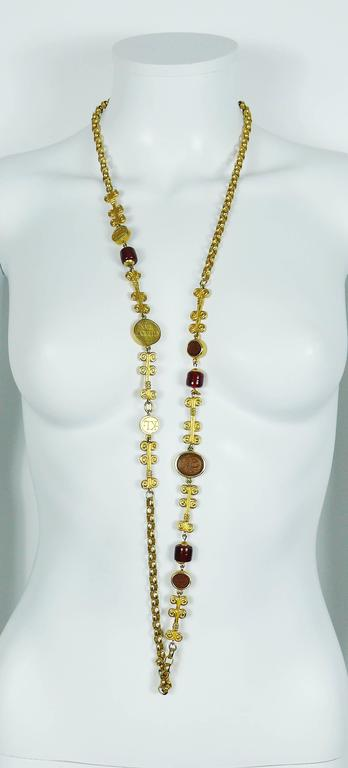 Karl Lagerfeld Vintage Gripoix Sautoir Necklace 2