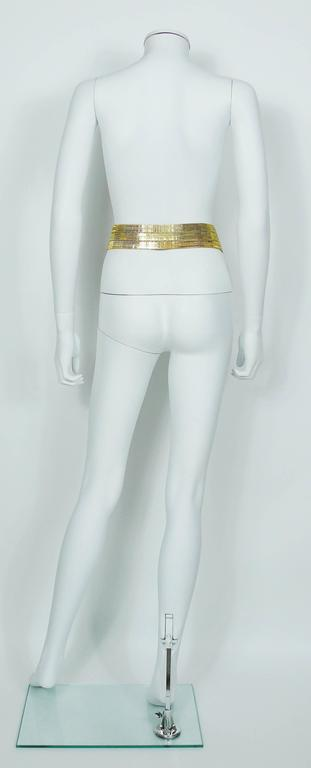 Chanel Vintage Museum Quality Gold Tone High Waist Belt with Gripoix Buckle For Sale 3