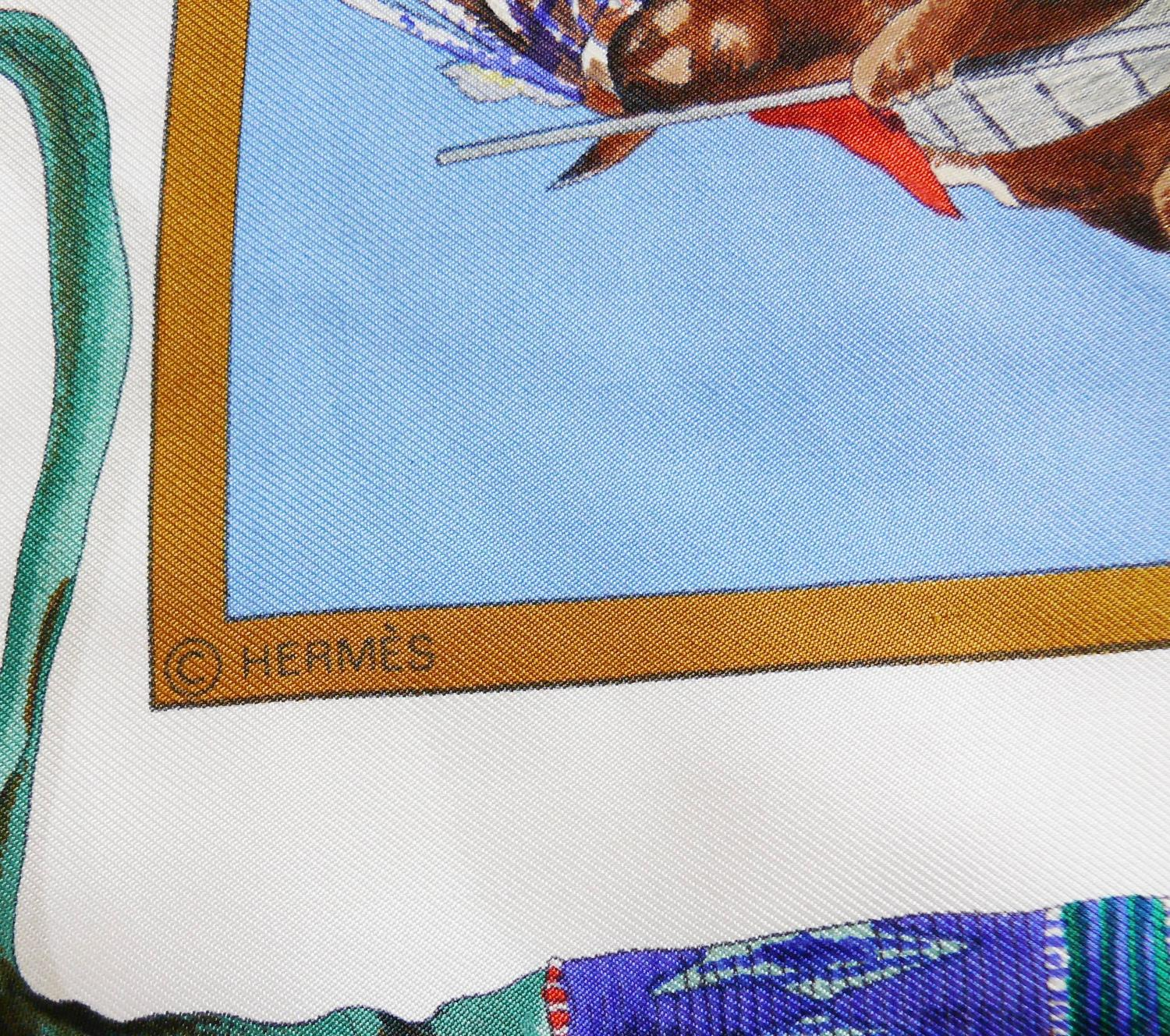 hermes vintage 1993 quot the pony express quot silk twill carr 233