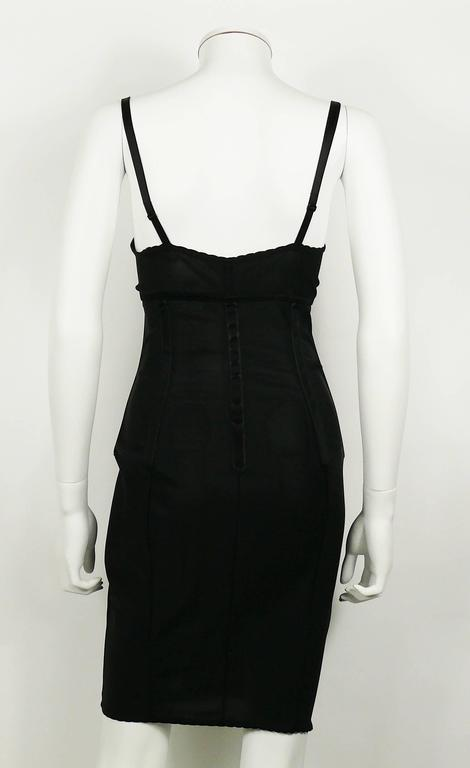 Dolce & Gabbana Black Lingerie Corset Bustier Dress For Sale 1