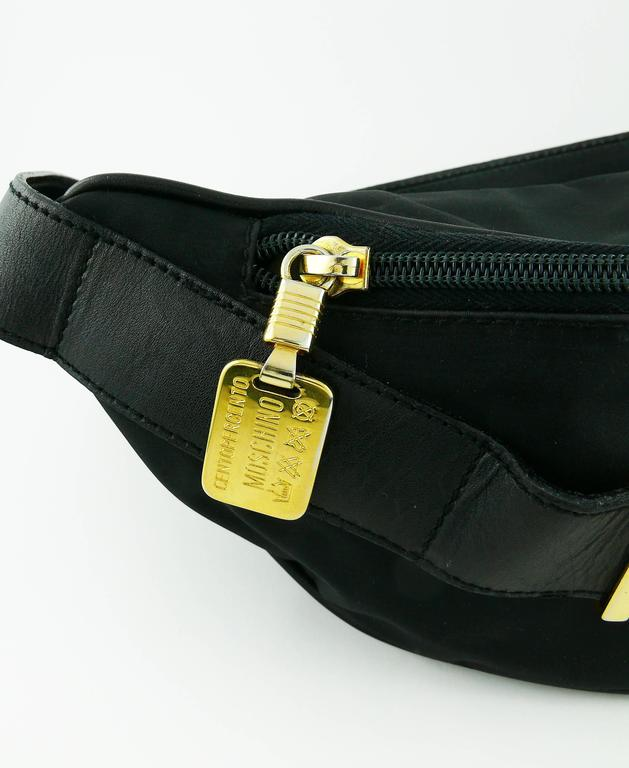 Moschino by Redwall Vintage 1990s Black Fanny Pack 7