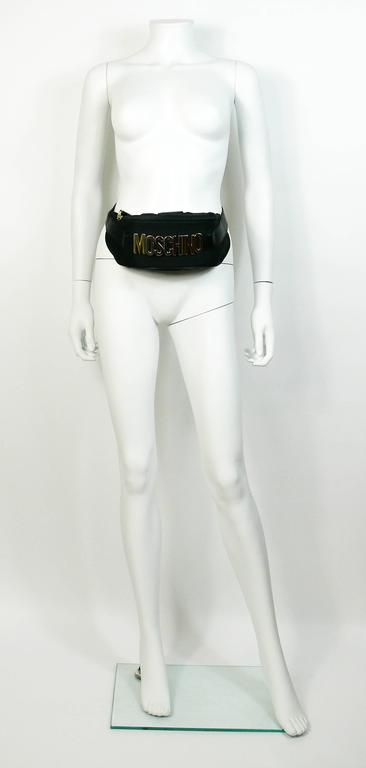 Moschino by Redwall Vintage 1990s Black Fanny Pack 2