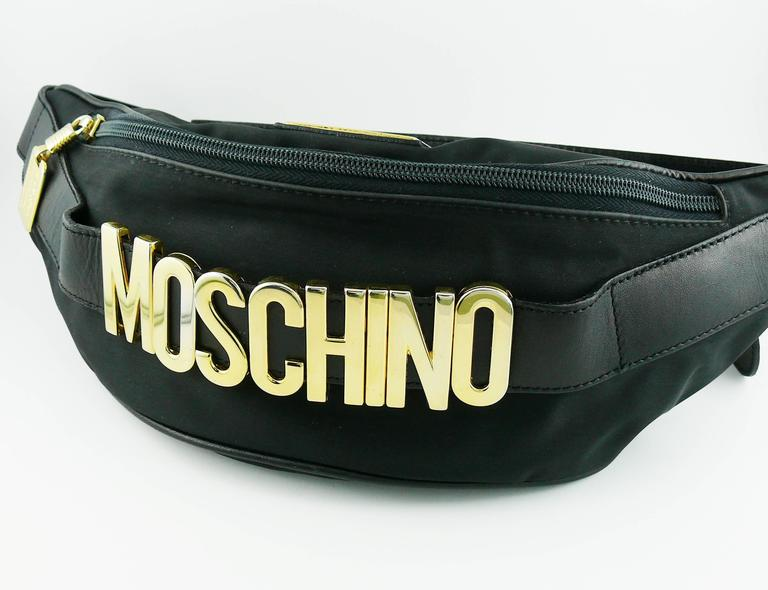 Moschino by Redwall Vintage 1990s Black Fanny Pack 5