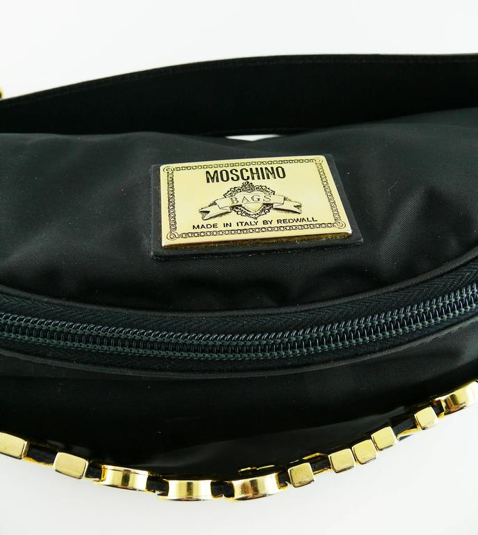 Moschino by Redwall Vintage 1990s Black Fanny Pack 6