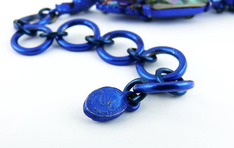 Chrsitian Lacroix  Vintage Crystal Choker Necklace For Sale 5