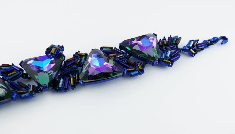 Chrsitian Lacroix  Vintage Crystal Choker Necklace For Sale 1