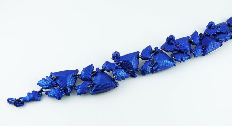Chrsitian Lacroix  Vintage Crystal Choker Necklace For Sale 3