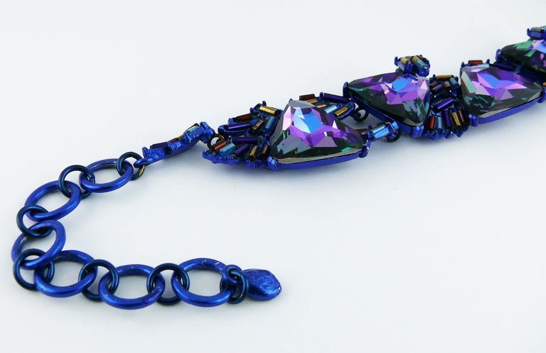 Chrsitian Lacroix  Vintage Crystal Choker Necklace For Sale 2