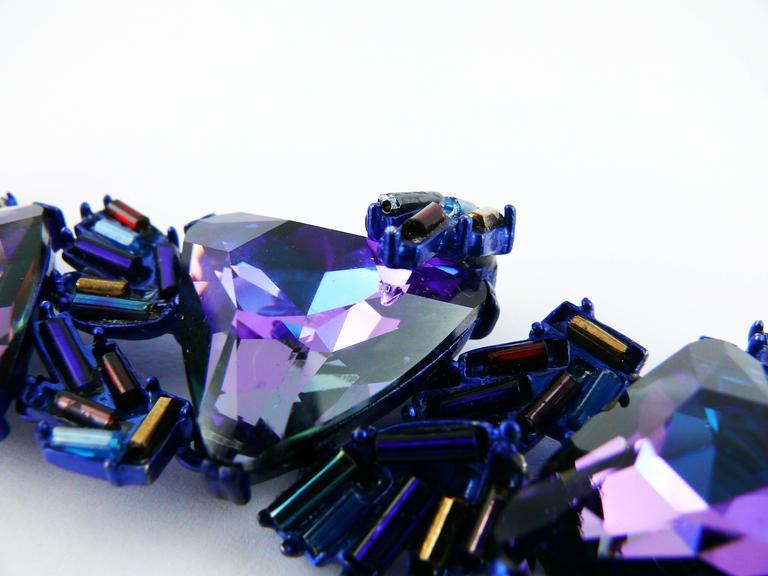 Chrsitian Lacroix  Vintage Crystal Choker Necklace For Sale 6