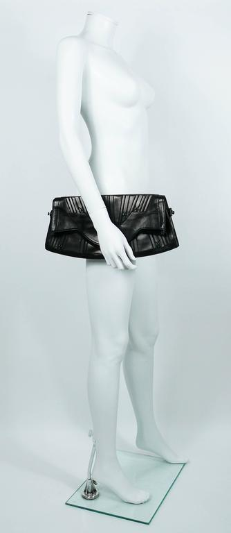 Women's Jean Paul Gaultier Vintage Black Lambskin Corset Bag Clutch For Sale