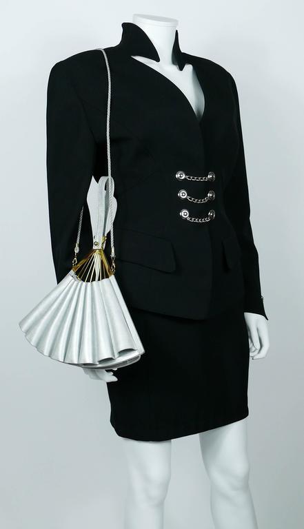 Women's Karl Lagerfeld Vintage Rare Iconic Novelty Fan Bag For Sale
