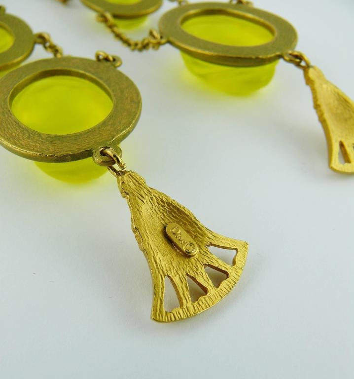 Christian Dior by John Galliano Egyptian Revival Scarab Dangle Earrings 8