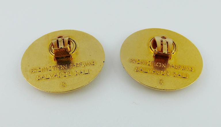 Salvador Dali Parfums Vintage Massive Mouth and Nose Clip-On Earrings For Sale 2
