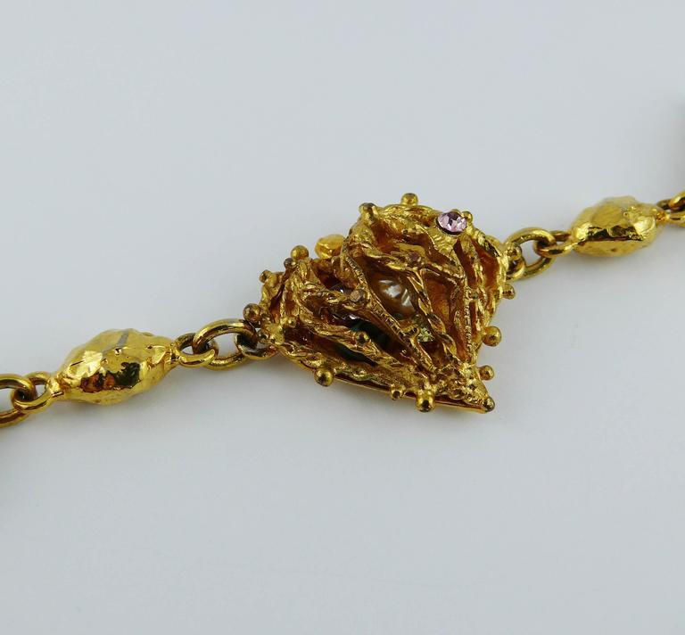 christian lacroix vintage encaged heart bracelet for sale at 1stdibs. Black Bedroom Furniture Sets. Home Design Ideas