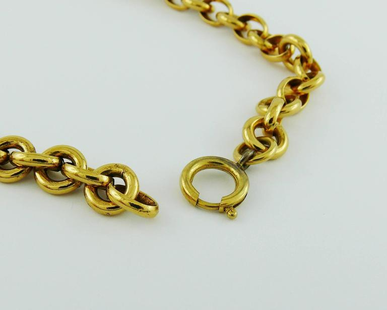 Chanel Vintage 1990s Gorgeous Gold Toned Arabesque Bib Necklace For Sale 5