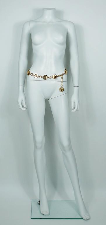 Chanel Vintage Ladybug, Mademoiselle Profile and Clover Gold Toned Coin Belt 2