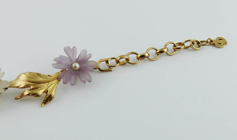 Christian Dior Vintage Delicate Floral Necklace For Sale 4
