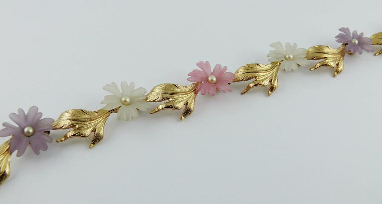 Christian Dior Vintage Delicate Floral Necklace For Sale 2