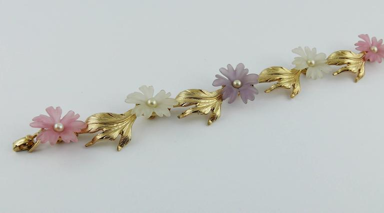 Christian Dior Vintage Delicate Floral Necklace For Sale 3