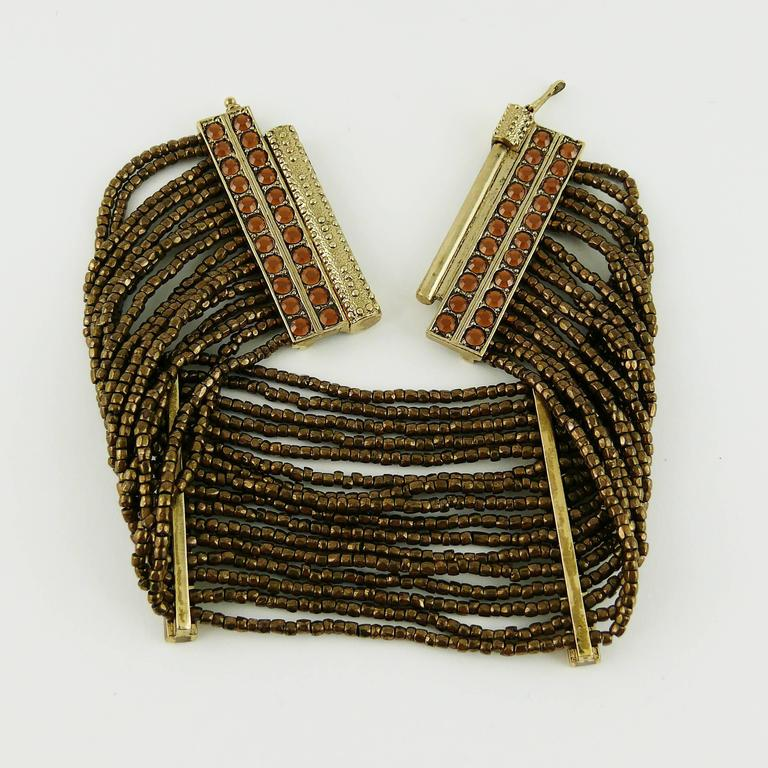 Christian Dior Multi Strand Choker and Bracelet Set 8