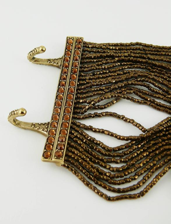Christian Dior Multi Strand Choker and Bracelet Set 5