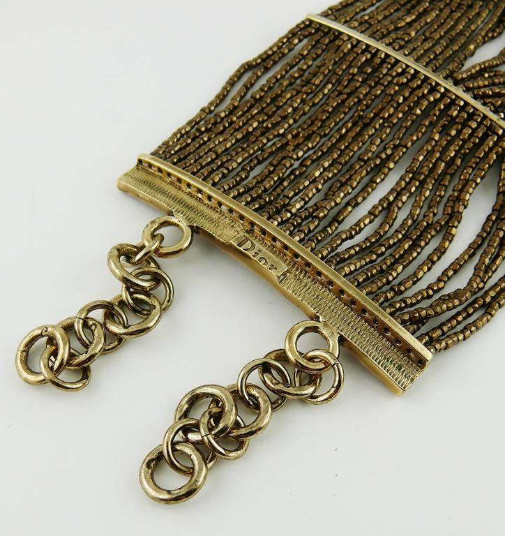 Christian Dior Multi Strand Choker and Bracelet Set 7