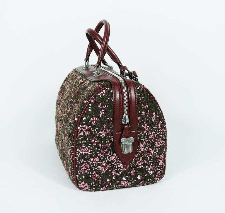 Women's Louis Vuitton Speedy Sunshine Express Burgundy Sequin Monogram Limited Edition For Sale