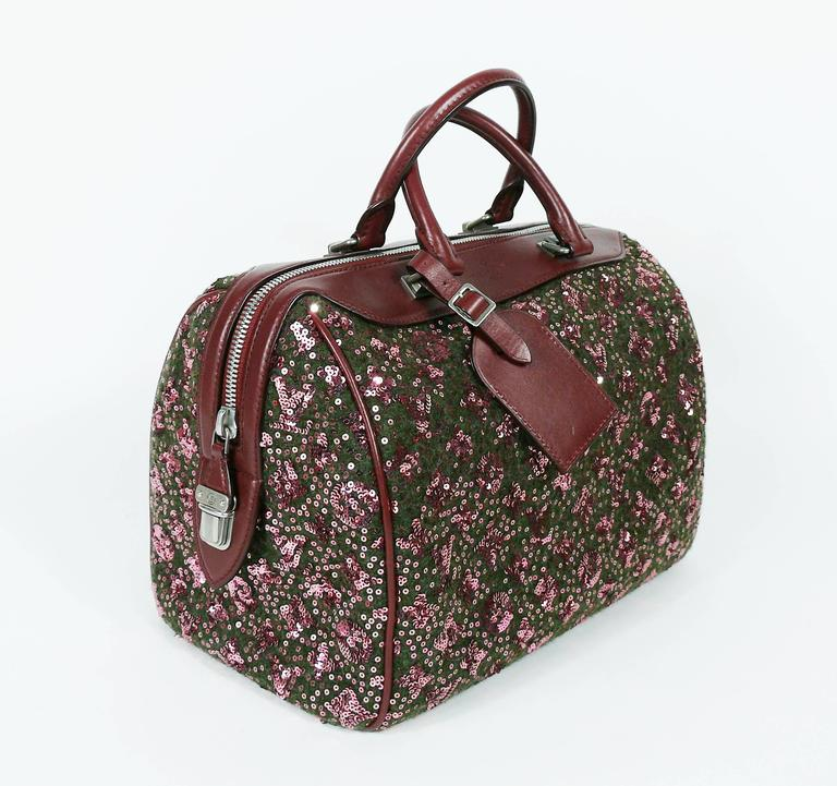 Louis Vuitton Speedy Sunshine Express Burgundy Sequin Monogram Limited Edition For Sale 1