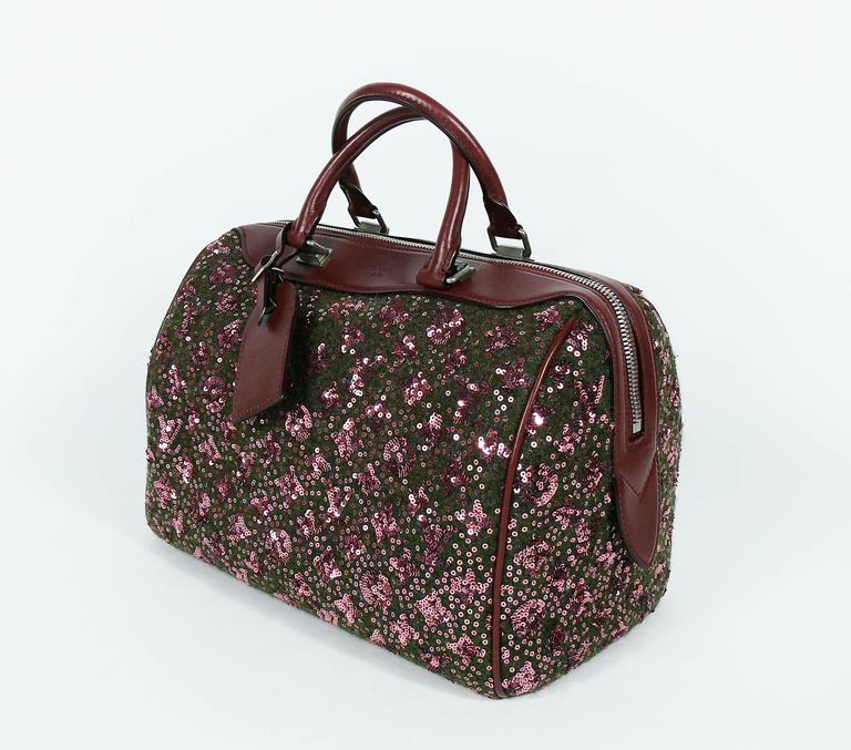 Black Louis Vuitton Speedy Sunshine Express Burgundy Sequin Monogram Limited Edition For Sale