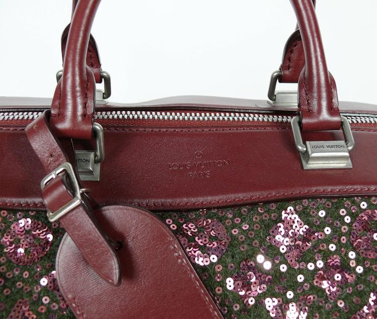 Louis Vuitton Speedy Sunshine Express Burgundy Sequin Monogram Limited Edition In Excellent Condition For Sale In French Riviera, Nice
