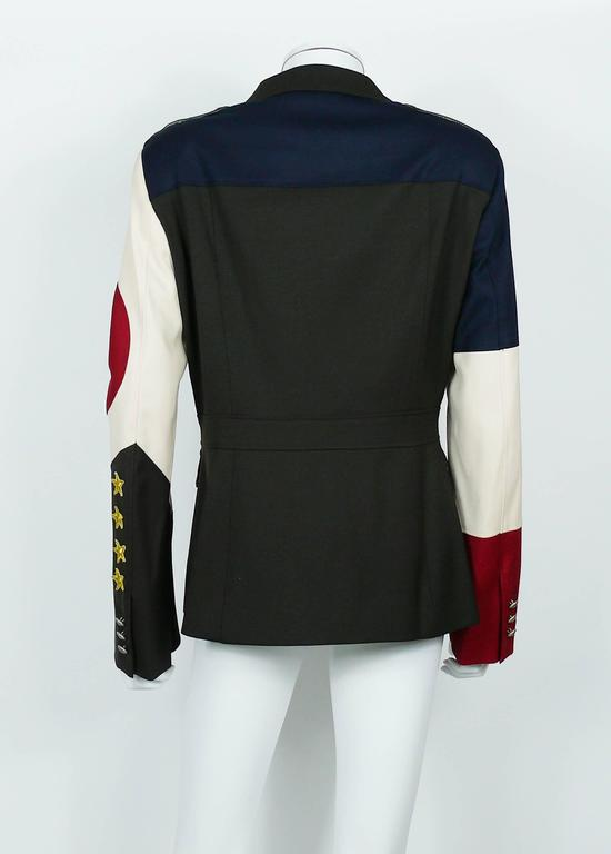 Moschino Military Style Jacket Size USA 12 7