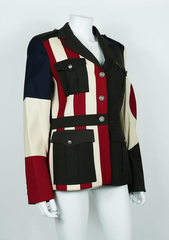 Moschino Military Style Jacket Size USA 12 3