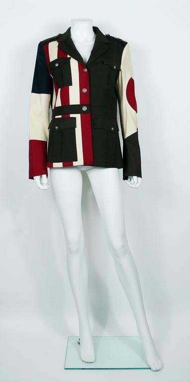 Moschino Military Style Jacket Size USA 12 4