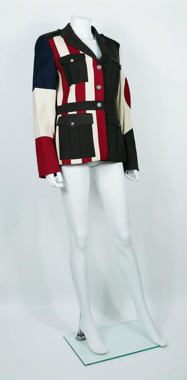 Moschino Military Style Jacket Size USA 12 2