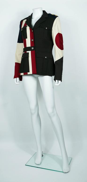 Moschino Military Style Jacket Size USA 12 5