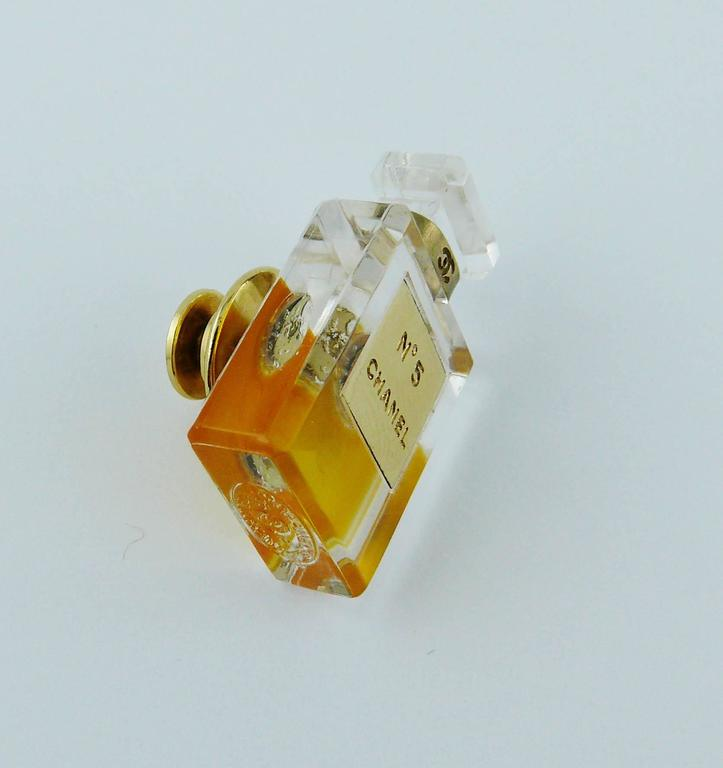 Chanel Iconic No. 5 Perfume Bottle Pin Brooch 5
