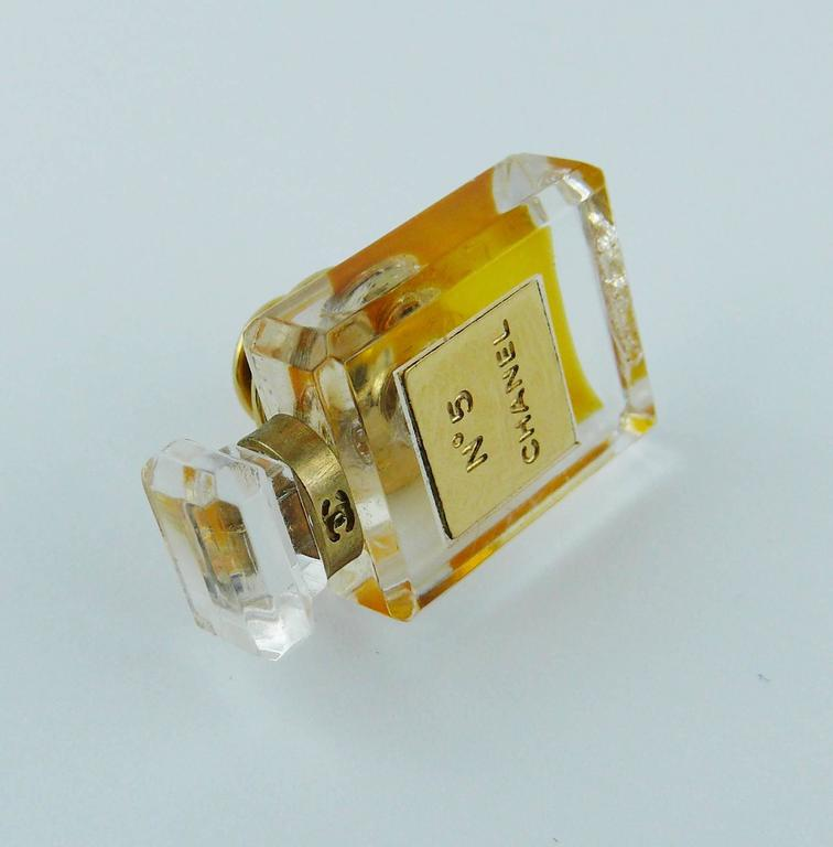 Chanel Iconic No. 5 Perfume Bottle Pin Brooch 6