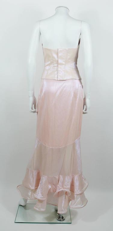 Women's Thierry Mugler Couture Vintage Iridescent Pink Two Piece Suit For Sale