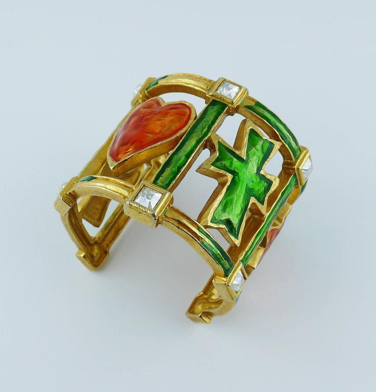 christian lacroix vintage iconic cuff bracelet for sale at 1stdibs. Black Bedroom Furniture Sets. Home Design Ideas