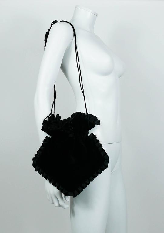 Yves Saint Laurent Vintage Black Velvet Evening Bag At 1stdibs