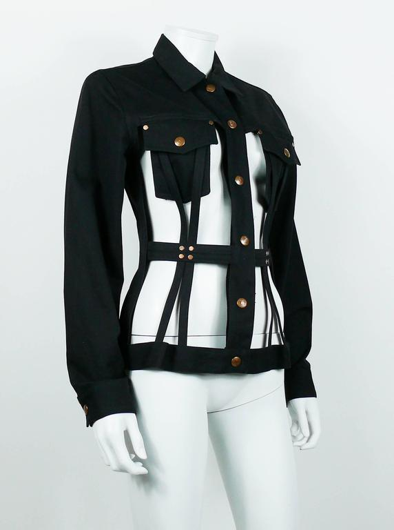 Jean Paul Gaultier Vintage Iconic Black Cage Jacket 3