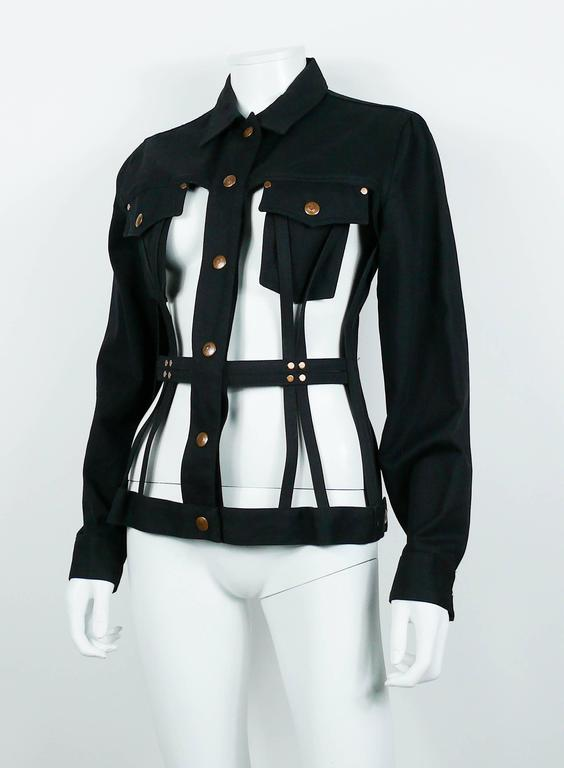 Jean Paul Gaultier Vintage Iconic Black Cage Jacket 6