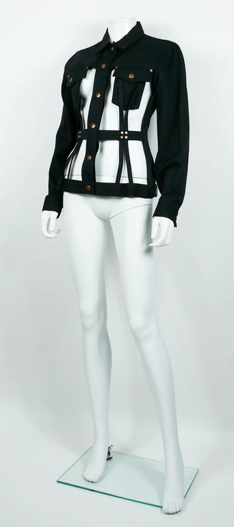 Jean Paul Gaultier Vintage Iconic Black Cage Jacket 5
