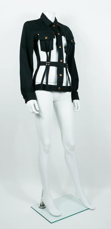 Jean Paul Gaultier Vintage Iconic Black Cage Jacket 2