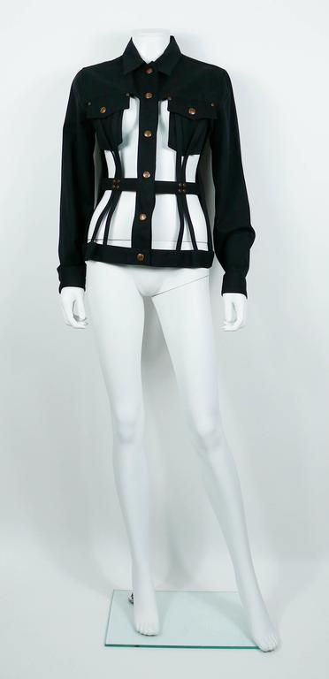 Jean Paul Gaultier Vintage Iconic Black Cage Jacket 4