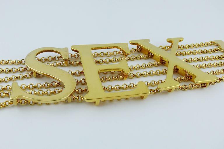 Dolce & Gabbana Iconic Runway Sex Bracelet Spring-Summer 2003 3
