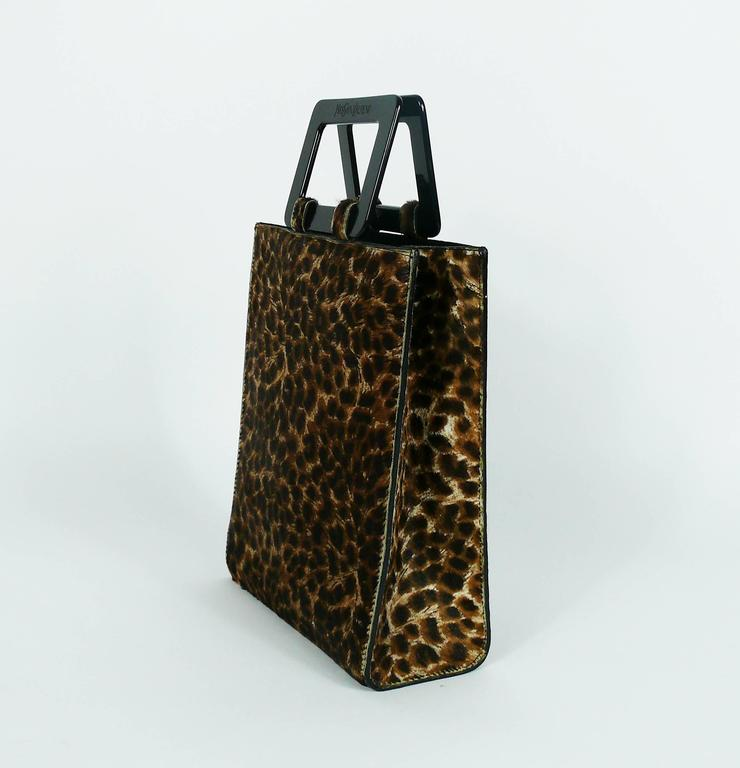 Yves Saint Laurent Ysl Vintage Leopard Print Pony Hair
