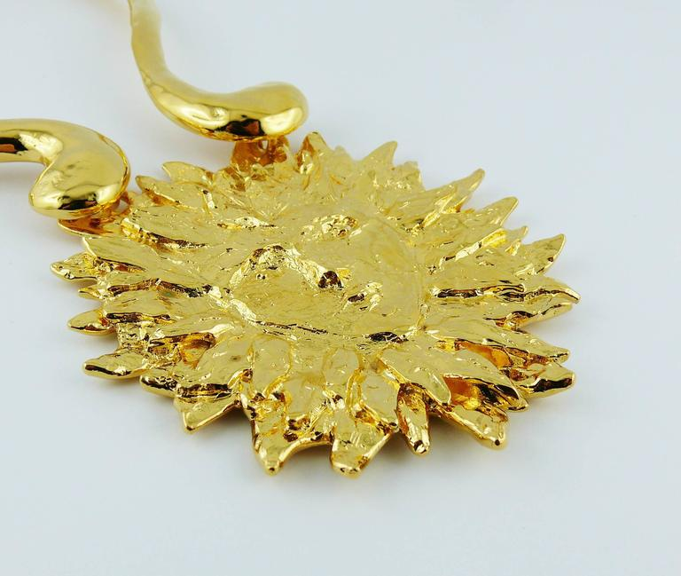 Yves Saint Laurent YSL Robert Goossens Vintage Rare Sun Face Chocker Necklace 4