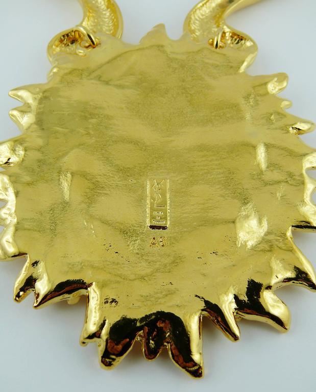 Yves Saint Laurent YSL Robert Goossens Vintage Rare Sun Face Chocker Necklace 10